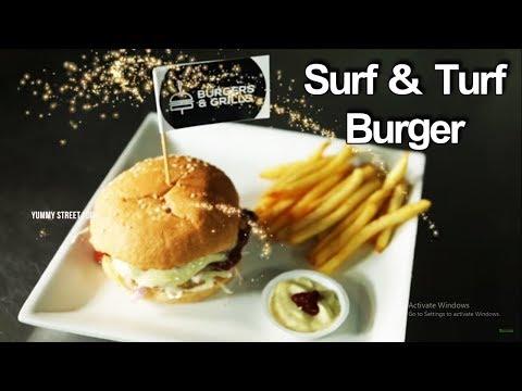 Surf & Turf Burger Recipe | How to Make Surf and Turf Burger | Yummy Street Food