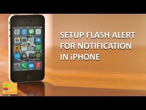 How to setup led flash alert for iPhone