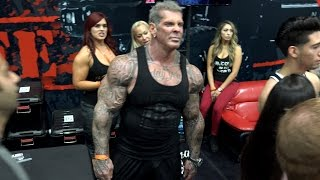 Rich Piana Minutes BEFORE Mac Trucc Attack - LA Fit Expo