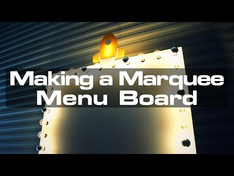 Making a Marquee-Style Menu Board