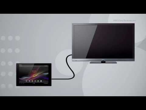 How To Use The HDMI Display Function On Your Xperia™ Tablet Z