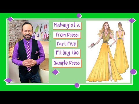 Making of a Prom Dress: Part 5-- Fitting the Sample Dress