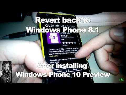 Revert to Windows Phone 8.1 after installing Windows Phone 10 Tech Preview (Lumia)