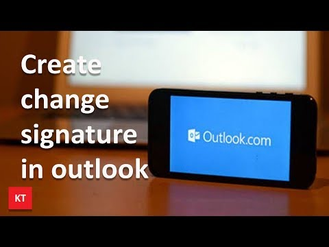 How to create or change signature for outlook app in iPhone