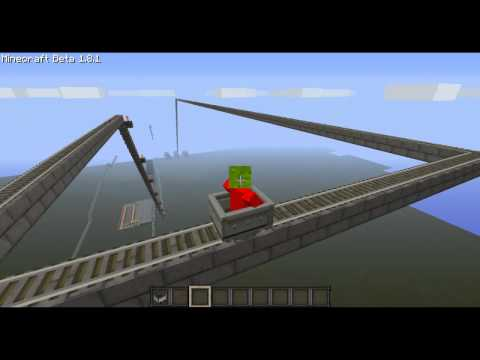 Minecraft 1.8.1 Roller coaster - Creative.