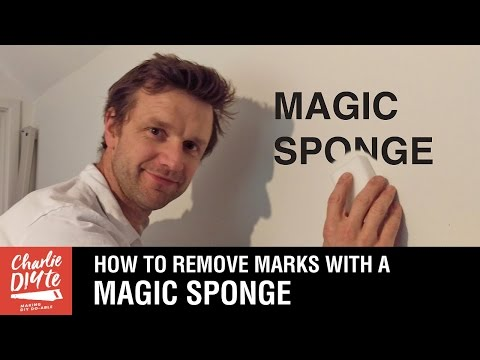 How to Remove Marks from Walls with a MAGIC SPONGE!