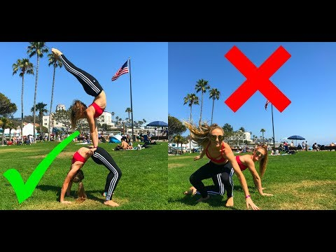 Extreme Yoga Challenge at Laguna Beach | The Rybka Twins