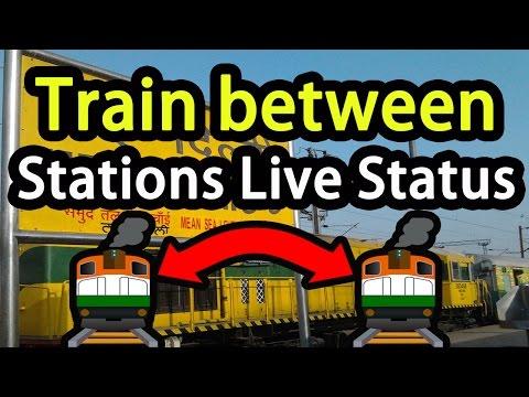 train between stations live status दो स्टेशन के बीच मे ट्रेन की लाइव स्टेटस