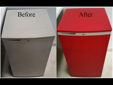 Revitalize Old Refrigerator With Color Dip