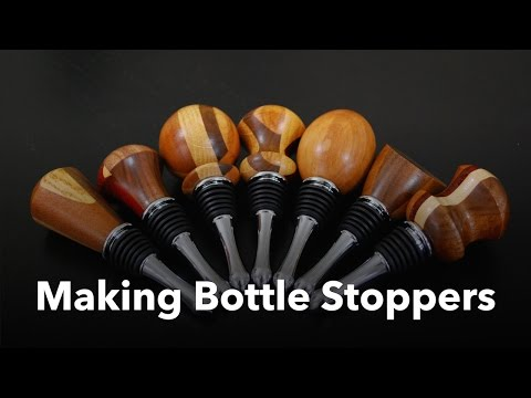 Bottle Stoppers from Scrap Wood