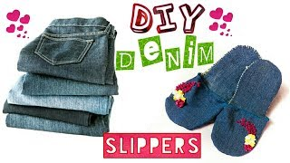 DIY Denim Slippers| How to make denim slipper at home| Denim Slippers Easy method