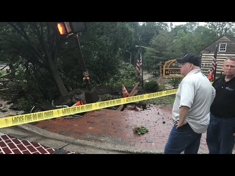 Flash flooding strikes Maryland town again