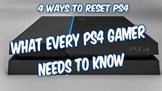 4 Ways How To Reset Ps4 Factory Restore Controller Reset Service Menu