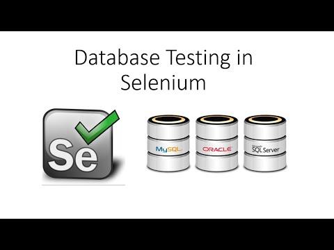 Database Testing Using Selenium Webdriver