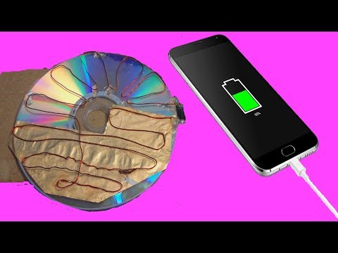 Free Energy 100% , How to make solar cell from CD flat and coal cable    Free Energy Using CD Flat