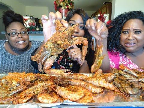 Blue Crabs and Jumbo Shrimp Mukbang