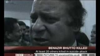 Nawaz Sharif On Benazir Bhutto's Death