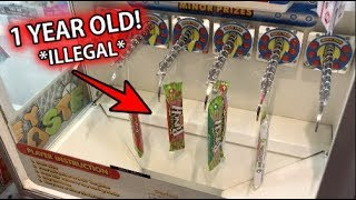 I won EXPIRED Candy From This Arcade!!! (ILLEGAL) | JOYSTICK