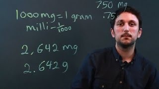 How Many Milligrams Are In A Gram For A Conversion Measurement Conver