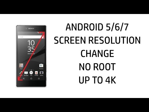 Change screen resolution Android 5/6/7 no Root