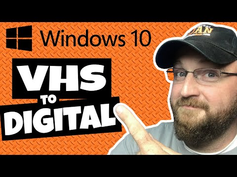 Convert VHS to Digital | Convert VHS to MP4 Windows 10 | How To Convert VHS to MP4