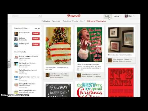 Using Pinterest with and without a Username