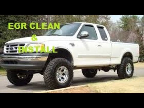 1999 Ford F150 EGR Cleaning. Egr Removal. Egr codes