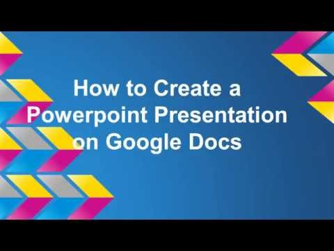 How to Create a Powerpoint on Google Docs