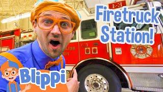 Download Blippi Explores Fire Trucks for Children   Blippi Fire Truck Song