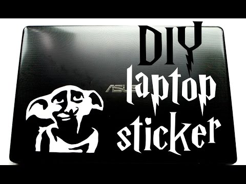 DIY laptop sticker - Harry Potter tutorial