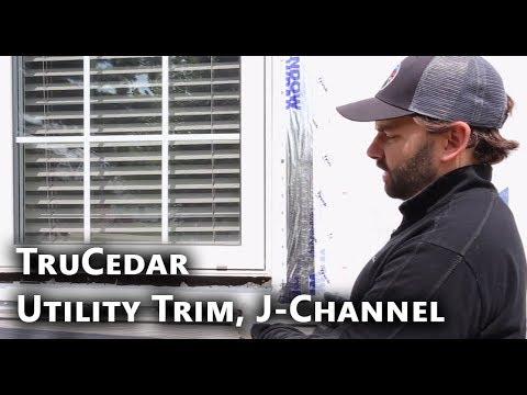 TruCedar Steel Siding Installation: Utility Trim, J-Channel & L-Channel