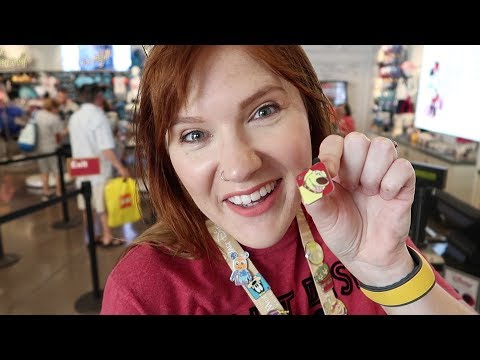 Our First Time Disney Pin Trading!   Pin Trading In Disney Springs 2018