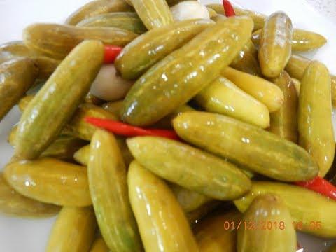 Crispy Pickled Indian Cucumbers Recipe