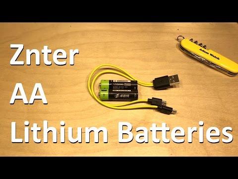 Znter 1.5v AA Lithium Battery - 12v Solar Shed