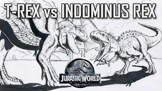 Jurassic World Indominus Rex Baby Hatching Drawing