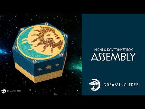 Free SVG - Night & Day Trinket Box - Assembly Tutorial