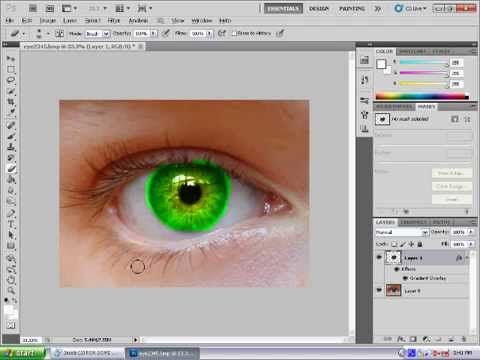 photoshop CS5 multi eye colour tutorial