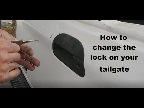 How to change the lock on your truck tailgate DIY video #DIY #lock #truck #tailgate