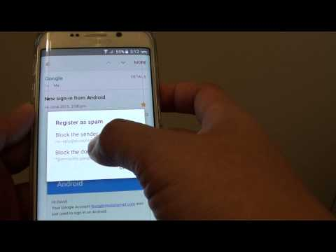 Samsung Galaxy S6 Edge: How to Block Spam Emails