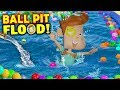 OUR BALL PIT FLOODED! Crazy Washer Machine + Chick-Fil-A No Like Shawn (FUNnel Vision Flood Vlog)