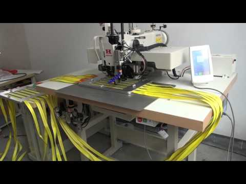 Thick thread automatic pattern sewing machine for web sling