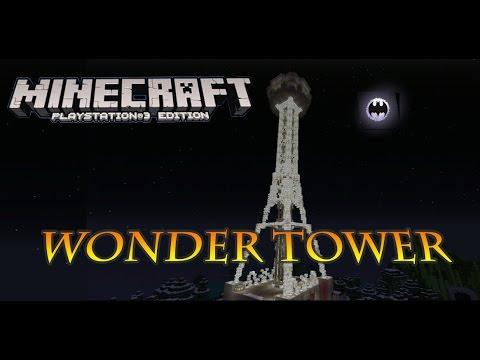 Minecraft PS3 Batman Arkham Origins Wonder Tower