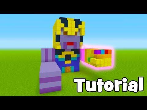 Minecraft Tutorial: How To Make Thanos In Minecraft