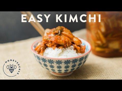 Easy Kimchi Recipe - Honeysuckle