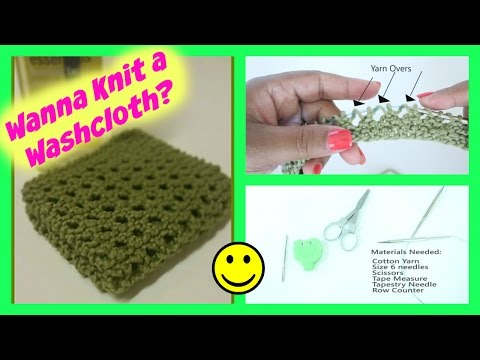 How to Knit a Spa Washcloth (Great for Beginners)