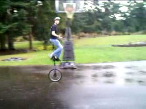 Riding my 5 foot unicycle