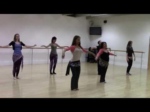 Belly dance class pop choreography