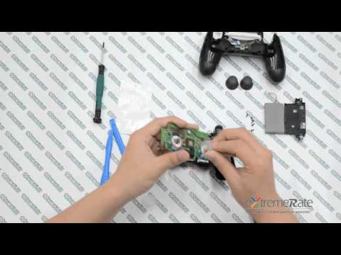 How to install LED flash light thumb sticks to your PS4 controller by Extremerate.
