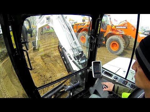 Bobcat E85 Excavator Test Drive: Cab View