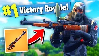 *NEW* HUNTING RIFLE GAMEPLAY In Fortnite: Battle Royale